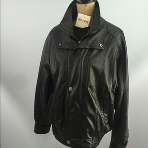 Wilsons leather men's jacket w insulated liner